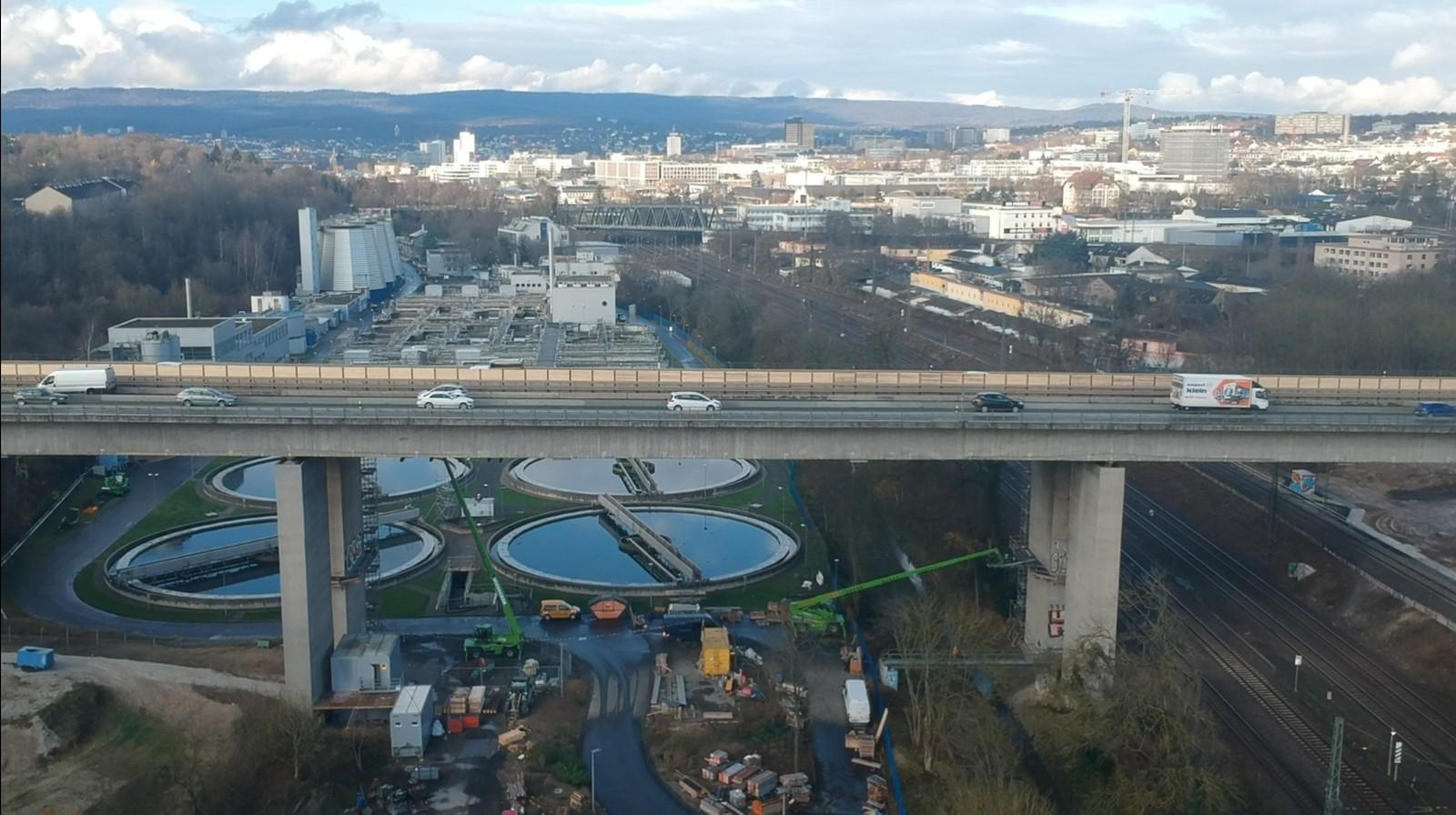 Die Salzbachtalbrücke gehört zu den großen Projekten in Hessen in diesem Jahr