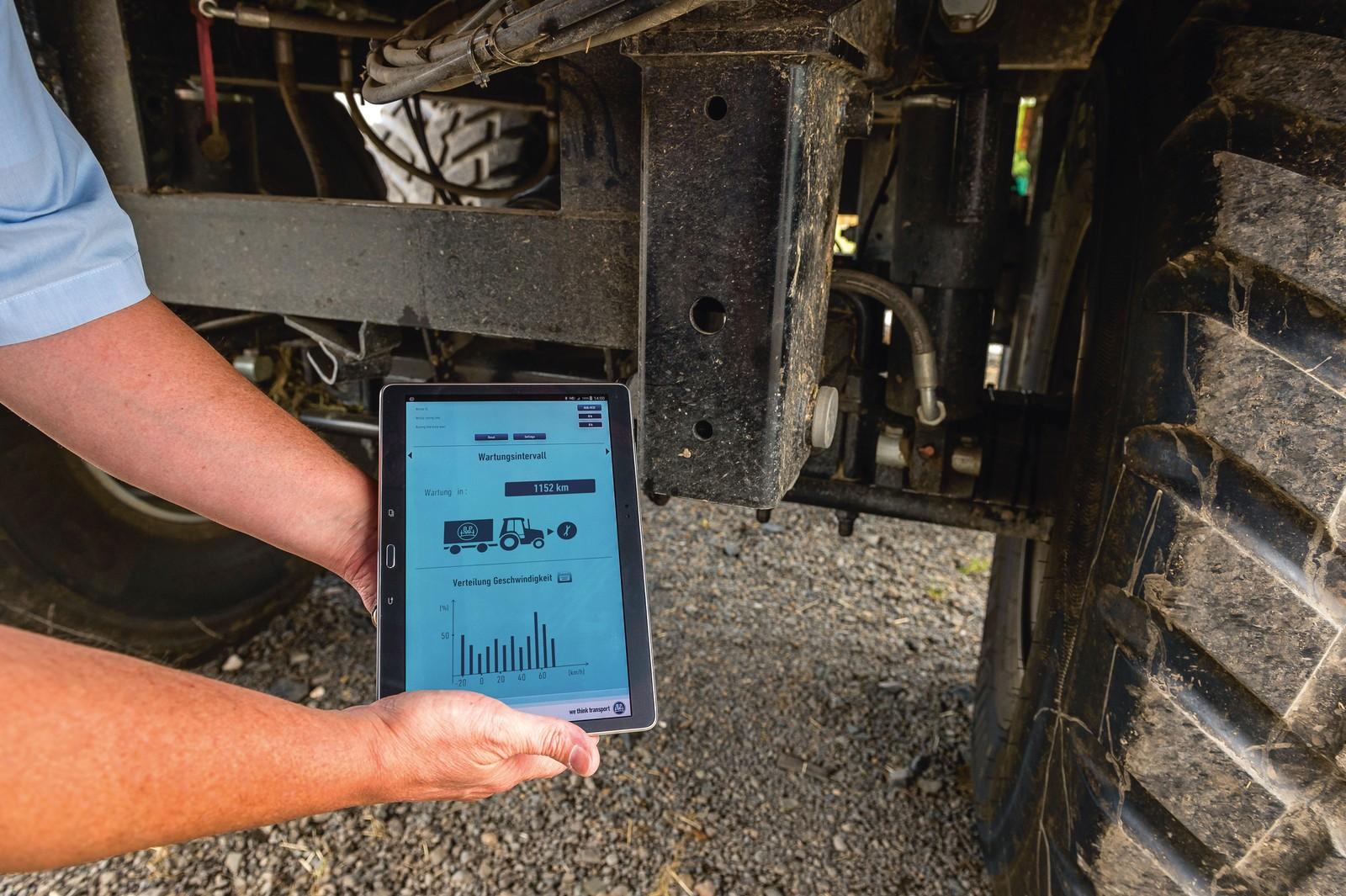 Daten werden vom Fahrwerk drahtlos aufs Tablet oder Smartphone gesendet.