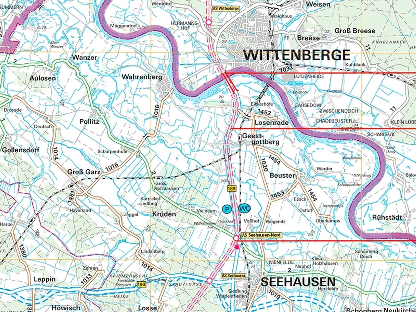 Hier läuft das Planfeststellungsverfahren: zwischen Seehausen und Wittenberge