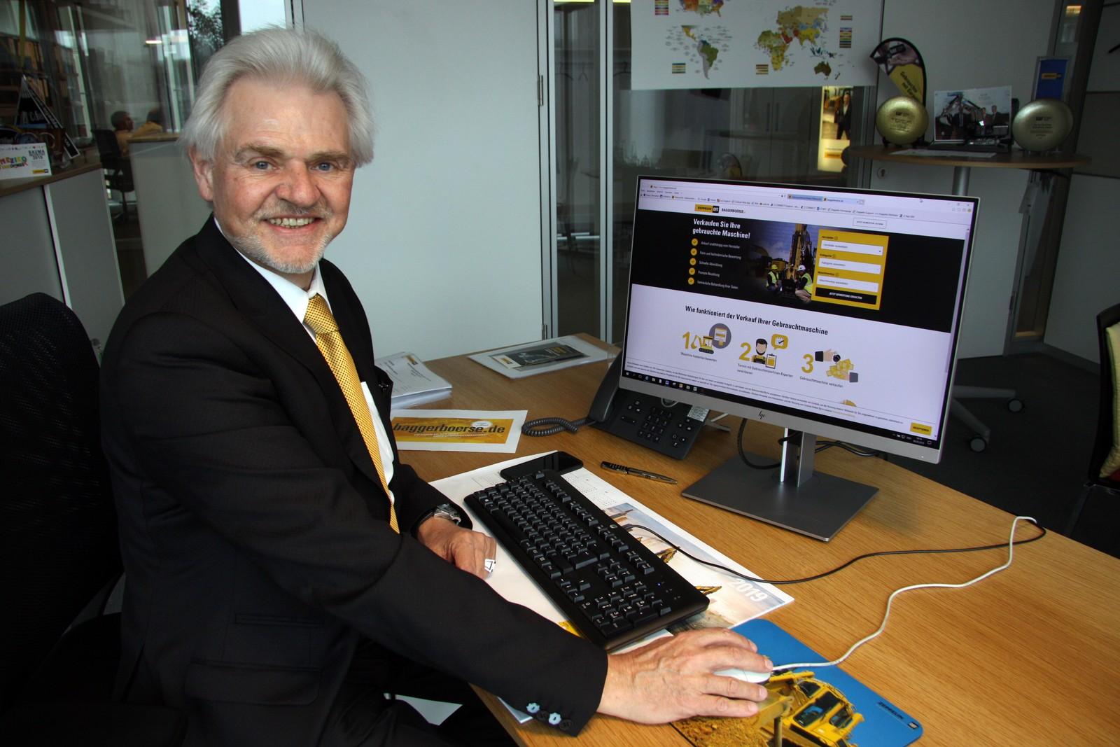 Kurt Kerler hat mit seinem Team zusammen die Online-Baggerbörse entwickelt.