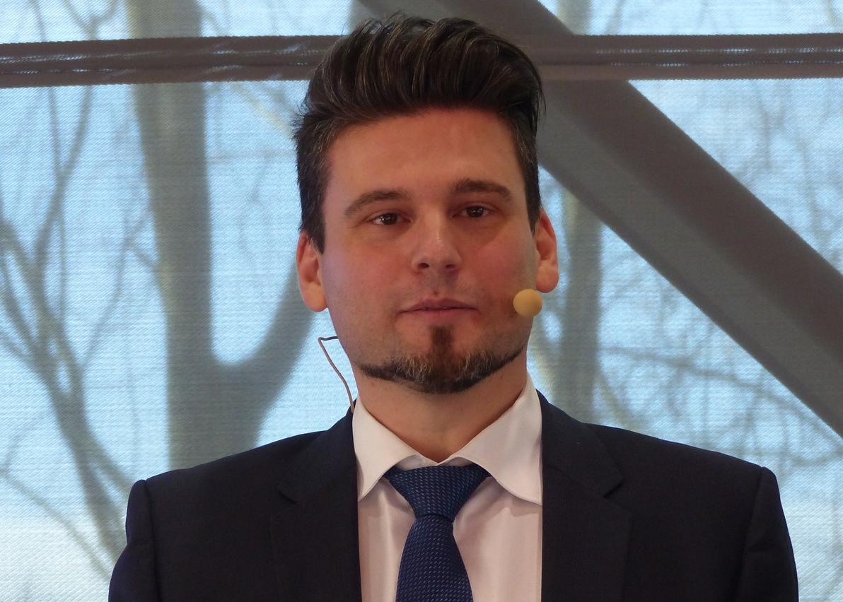 Dr. Sissis Kamarianakis vom IKT bei der Verleihung des Infratech-Innovationspreises 2018.