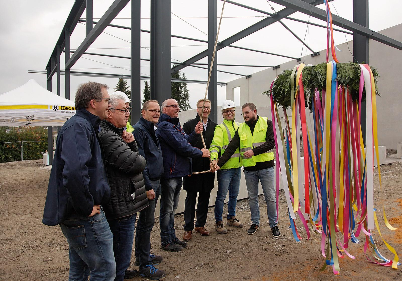 Richtfest in Hamm: Investor und Nutzer ziehen an einem Strang.
