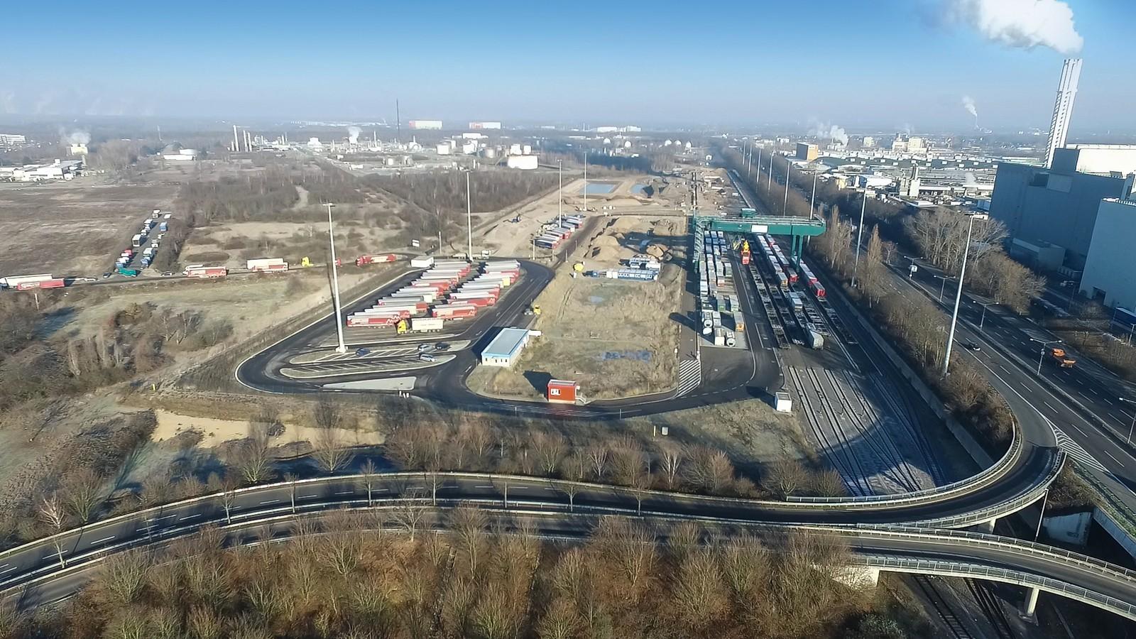 Das HGK-Containerterminal in Köln wird überwiegend mit Recyclingbaustoffen gebaut.