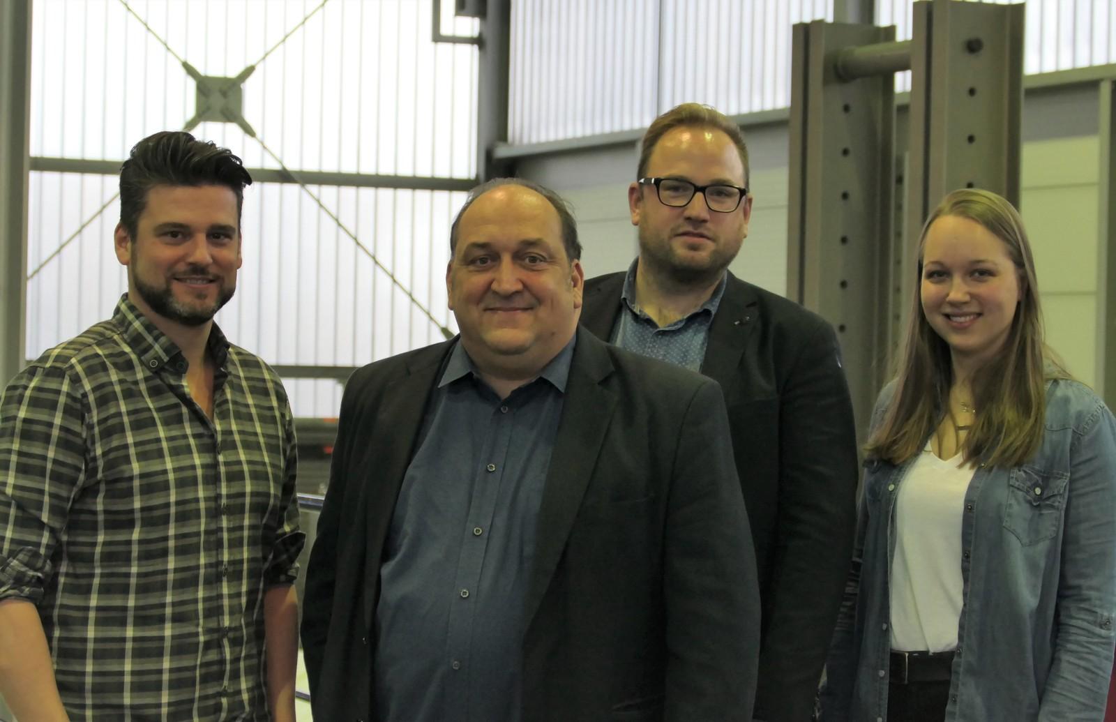 Die Jury des Infratech-Innovationspreises 2020 (v.l.n.r.): Dr.-Ing. Sissis Kamarianakis, Dipl.-Ing. Frank W. Grauvogel, Raphael Bahners und Sarah Dornbach. Nicht im Bild ist Ludger Wördemann.